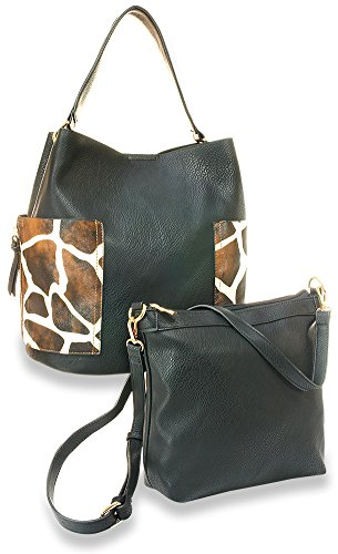 Giraffe Hobo Handbag - Giraffe Print Hobo Handbag Set
