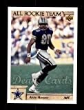 1992 Upper Deck # 34 All Rookie Team Alvin Harper Dallas Cowboys (Football Card) Dean's Cards 8 - NM/MT Cowboys