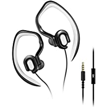 Running Headphones Over Ear Sport Earphones with MIc HD Stereo Sweatproof Earbuds with Bass for Gym Sports Workout Headsets (black)