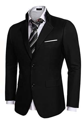 Coofandy Men's Casual Dress Suit Slim Fit Stylish Blazer Coats Jackets, Size Medium, ()