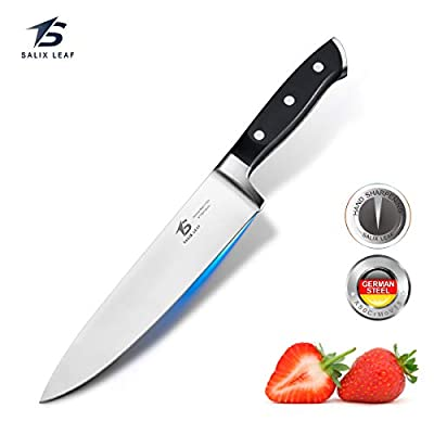 Salix Leaf Chef Knife Kitchen Knife Professional German High Carbon Stainless Steel Extra Sharp Knife with Full Tang Ergonomic Handle Design
