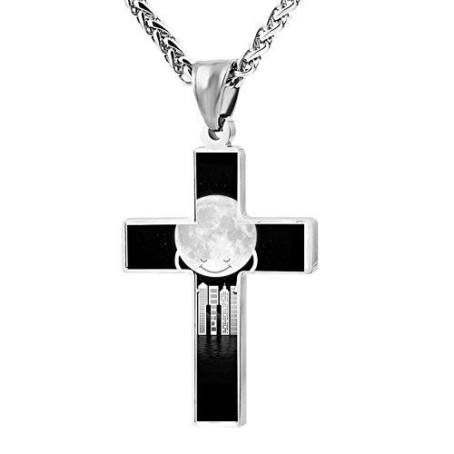 Patriotic Cross City Tunes Religious Lord'S Zinc Jewelry Pendant (Patriotic Tunes)