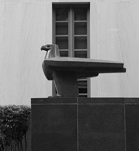 24 x 36 B&W Giclee Print Eagle Sculpture at The F. Edward Hebert Federal Building, New Orleans, Louisiana 2014 Highsmith 85a