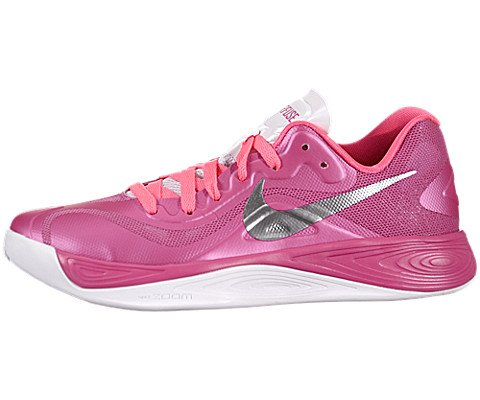 NIKE Women's Zoom Hyperfuse Low - Pink Flash/Metallic Silver, 8.5 B US