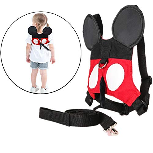 Ymeibe Baby Toddler Harness for Walking Kids Cute Safety Belt Harness with Leash Anti-Lost Assistant Strap for 1-5 Years Old Boys and Girls