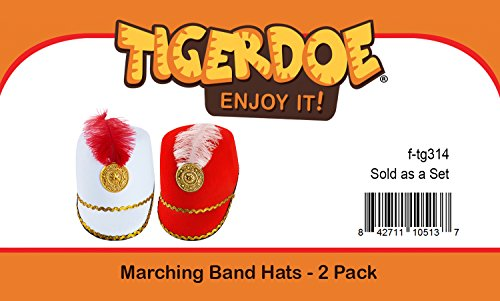 806604b24a9 Amazon.com  Tigerdoe Marching Band Hat - 2 Pack - Nutcracker Hat - Soldier  Hat - Drum Major Hat - Toy Soldier Hat  Clothing