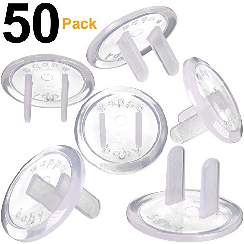 Clear Outlet Covers - Value Pack 50 Count Premium Quality - New & Improved Baby Safety Plug Covers - Durable & Steady - Pack of 50 Transparent Plugs