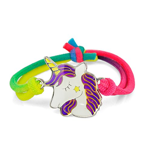 (Fun Jewels 1PC Fairy Tale Cute Unicorn Charm Kids Color Change Mood Bracelet Gift For)
