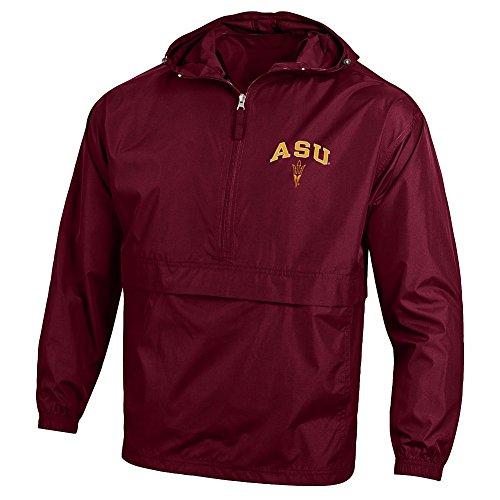 Elite Fan Shop Arizona State Sun Devils Packable Jacket Maroon - XL (Sun Devil Jacket)