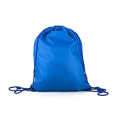 "Opromo Waterproof Nylon Drawstring Backpack Gym Bags for Sport Travel Storage Clothing Shoes, 13"" W x 17"" H hot sale"