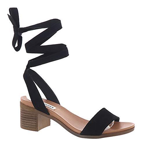 Steve Madden Women's Adrianne Heeled Sandal Black Suede 10 M ()