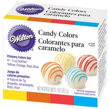 Candy Colors .25oz 4/Pkg-Yellow, Orange, Red &