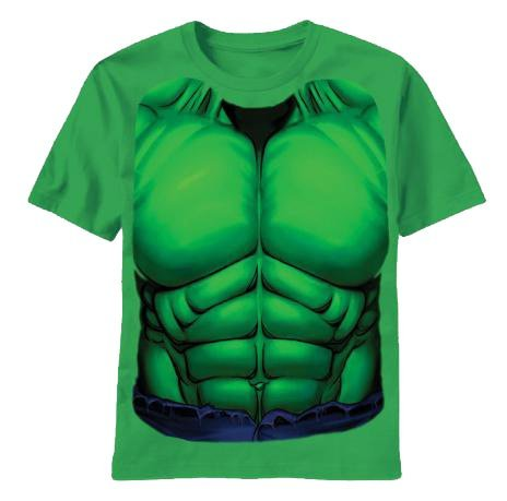 Incredible Hulk Costumes For Toddlers (Marvel Comics The Incredible Hulk Green Costume T-Shirt Tee (Toddler 7T))