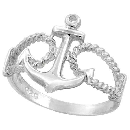 Sterling Silver Anchor Ring sizes