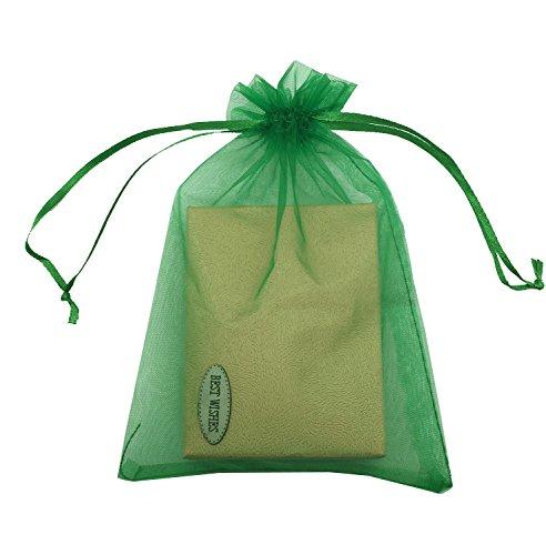 SUNGULF 100pcs Organza Pouch Bag Drawstring 5
