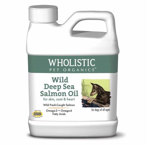 Wholistic Pet Organics Wild Deep Sea Salmon Oil for Dogs, 16 (Salmon Oil Benefits)