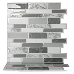 The premium quality self adhesive wall tile that is easy to install. Just peel and stick! The DIY peel and stick tile concept of Tic Tac Tiles is made possible through Tic Tac Technology that makes the product very easy to cut, stick and main...