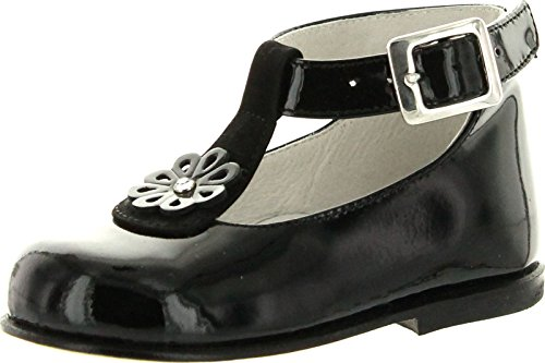 Oxford in T Black 944 Made Dress Shoes Flats Italy Girls Strap pZprw1q