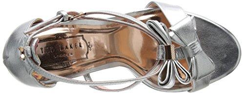 Sandali Con Cinturino Alla Caviglia Da Donna Tino Baker Argento (argento)
