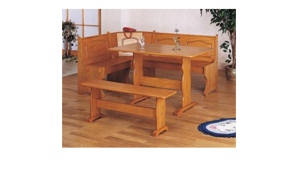 Amazon Com Corner Kitchen Nook Dining Table Bench Oak Nr Furniture Decor