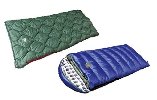 High Peak alpinizmo Kodiak (-15F) and Ranger 20F sleeping bags combo set, Blue/Green, One Size For Sale