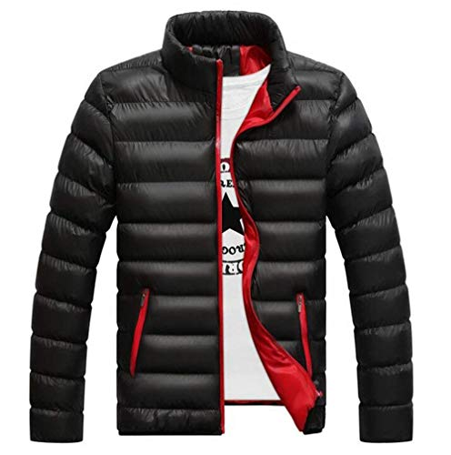 Slim Fashion Long Stand Ultralight Autumn Coat Fit Winter BOLAWOO Warm Coat Schwarz Jacket College Collar Sleeve Men's Jacket Down Brands Quilted Fashion Jacket UIp8P