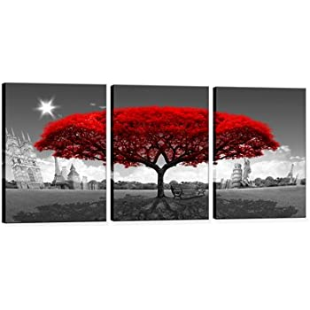 Hua Dao Art  KA3C002 Canvas Prints Landscape Architecture Framed Canvas Wall  Art For Home Decor