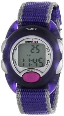 Timex Kids' T7B9839J IronKids Translucent Purple Resin Strap Watch
