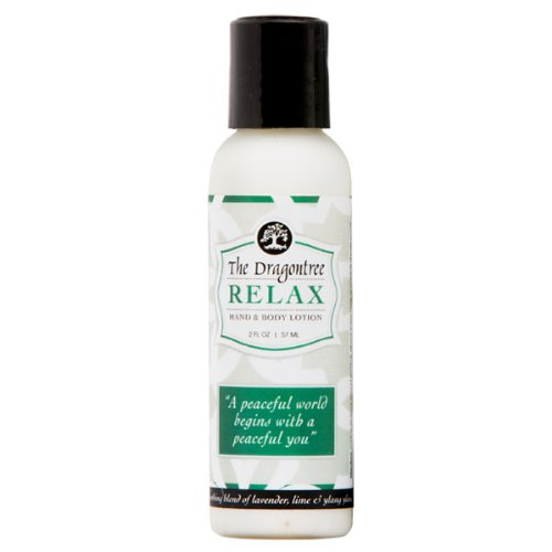 Moisturizing Hand & Body Lotion - (Relax) - a Soothing Blend of Lavender, Lime & Ylang Ylang- For Dry, Itchy, and Irritated Skin - Reduce Signs of Aging - 2oz - Set Avalon Bed