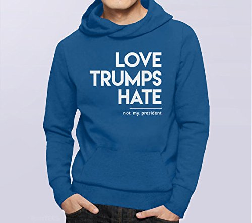 Love Trumps Hate Sweatshirt, love trumps hate hoodie, love trumps hate shirt, not my president shirt protest sweatshirt, nasty woman hoodie, S-5XL