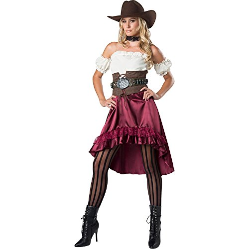 InCharacter Women's Wild Saloon Sweetie Costume, X-Large Red]()