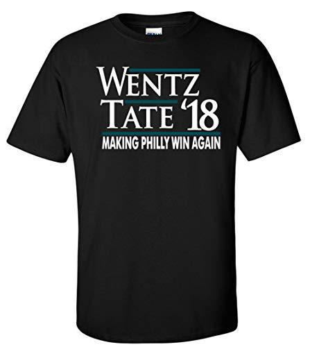 "PROSPECT SHIRTS Black Philadelphia Wentz Tate 18"" T-Shirt Adult"