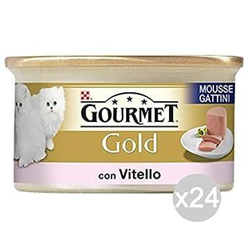 Purina Juego 24 Gourmet Gold Mousse Becerro Kitten Gr 85 Comida para Gatos: Amazon.es: Productos para mascotas