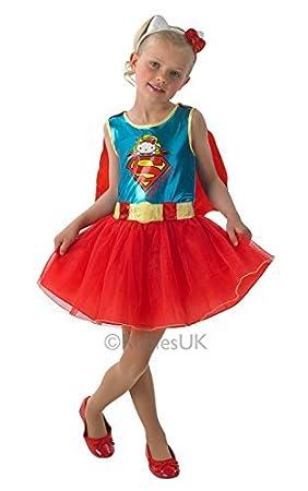 12d1a4622b976 DC Supergirl pour enfant-Hello Kitty-déguisement Taille 116 cm ...