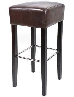 Küchen Barhocker Mit Lehne woltu bh22ws a 2 x barhocker barstuhl holz kunstleder ohne lehne