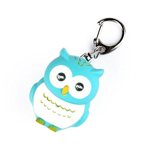 KeyZone 1 x Owl Keychain with Light Sound Nice Gift for Your Children Green