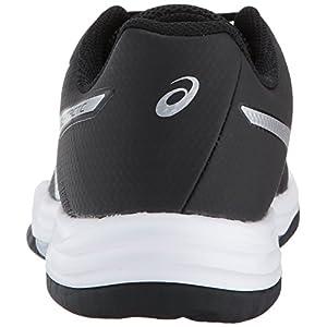 ASICS Women's Gel-Tactic 2 Volleyball Shoe, Black/Silver/White, 8.5 Medium US