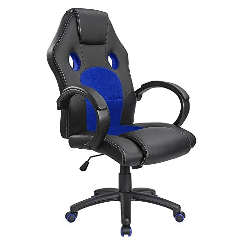 Homall-Gaming-Chair-Executive-Office-Chair-Desk-Chair-Racing-Style-Chair-Padded-Armrests-Task-Chair-Mesh-Bucket-Seat-and-Lumbar-Support-Red