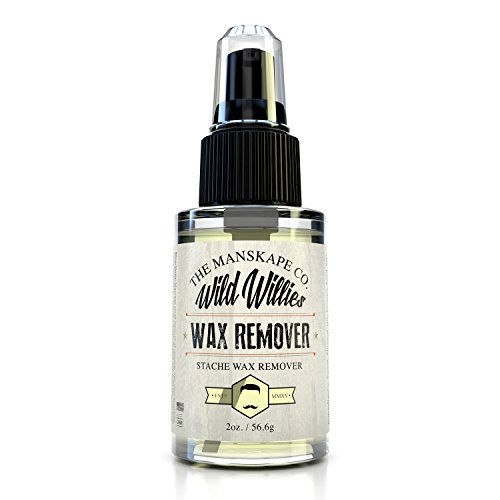 Wild Willie's Wax Remover, Remove Beard and Mustache Wax Gently with Wild Willie's Wax Remover 2oz