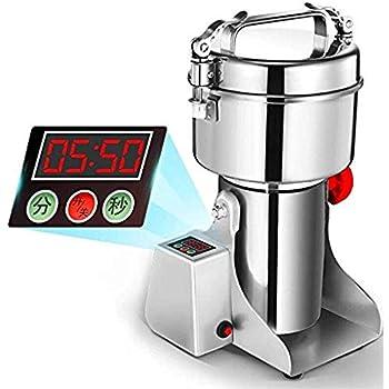 Marada 1000g Pulverizer Grinding Machine Stainless Steel 25000 r/min Pulverizer Machine for Kitchen Herb Spice Pepper Coffee Powder Grinder (1000g)