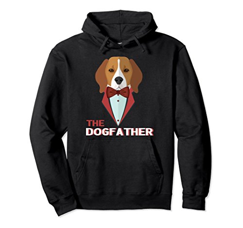 Unisex The DogFather Pullover Hoodie, Funny Dog Dad Lover Gift 2XL - Co & Dogfather