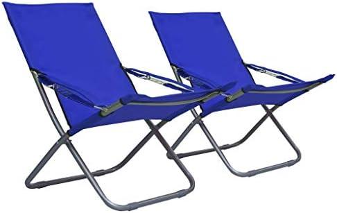 Benkeg Sillas Plegables de Playa 2 Unidades Tela Azul 58 x 76 x 88 cm, en 3 Posiciones, Sillas para Exterior Sillas de Jardín Sillas de Patio Sillas de Terraza: Amazon.es: Hogar