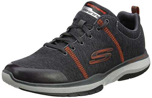 Skechers Burst TR-Locust, Scarpe Running Uomo Grigio (Charcoal/Orange)