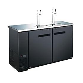 60″ 2 Door 4 Tap Commercial Beer Dispenser &...