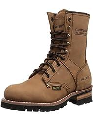 Adtec Womens 9 Logger Brown Work Boot