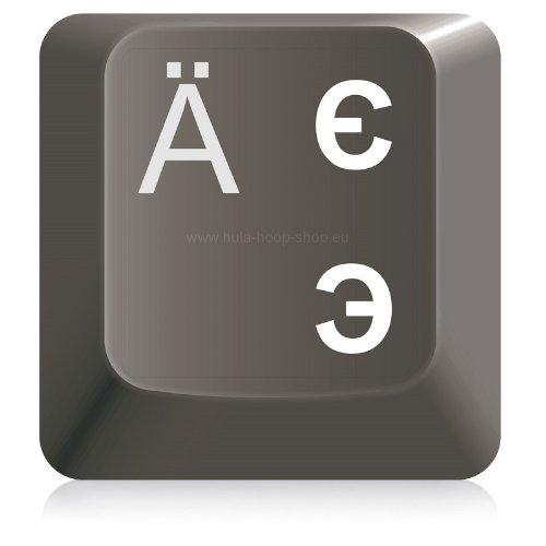 Clavier Autocollant Russe Transparent Surface Mate lamin/ée.