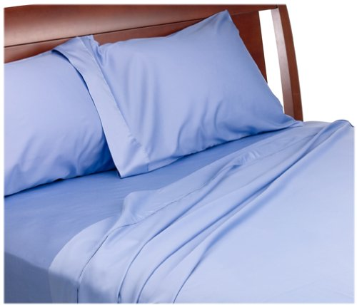 UPC 030473075625, Wamsutta 300-Thread-Count Egyptian Sateen Queen Flat Sheet, Periwinkle