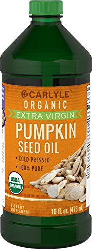 Carlyle Pumpkin Seed Oil 16oz Organic Cold - Saw Palmetto Flora