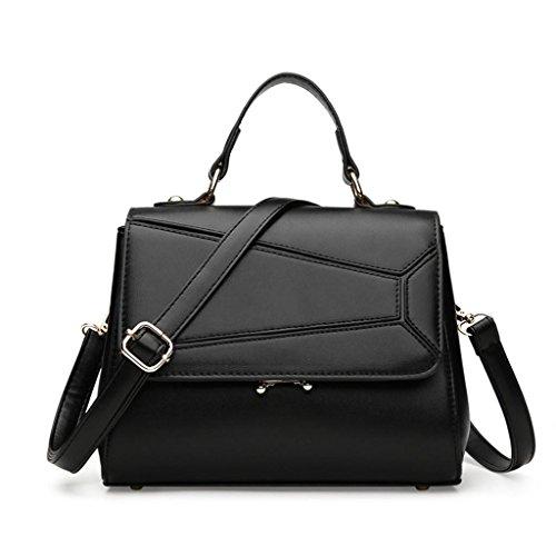 NVBAO Sacchetto di spalla del sacchetto del messaggero di modo della borsa della signora Sacchetto di acquisto della spalla singola Grande capienza Scompartimento multiplo, Red black