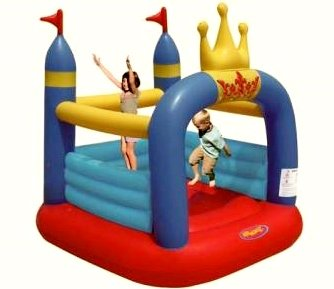 Amazon.es: Mini Castillo Hinchable - Crown Jumping Castle: Juguetes y juegos